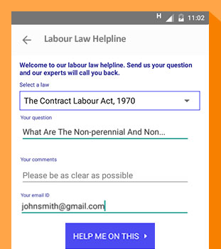 Labour law helpline